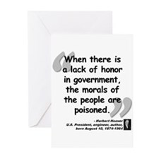 Hoover Morals Quote Greeting Cards (Pk of 10)