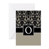 Monogram Letter O Gifts Greeting Cards (Pk of 10)