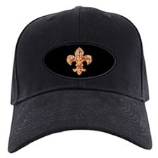 Jeweled Fleur de lis Baseball Hat