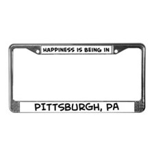 Happiness is Pittsburgh License Plate Frame