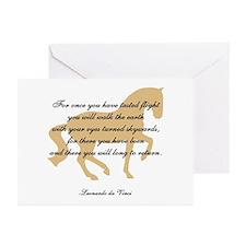 da Vinci flight saying - horse Greeting Cards (Pac