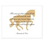 da Vinci flight saying - horse Small Poster