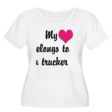 My heart belongs to a trucker T-Shirt