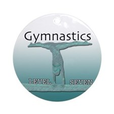 Level 7 Gymnast Ornament (Round)