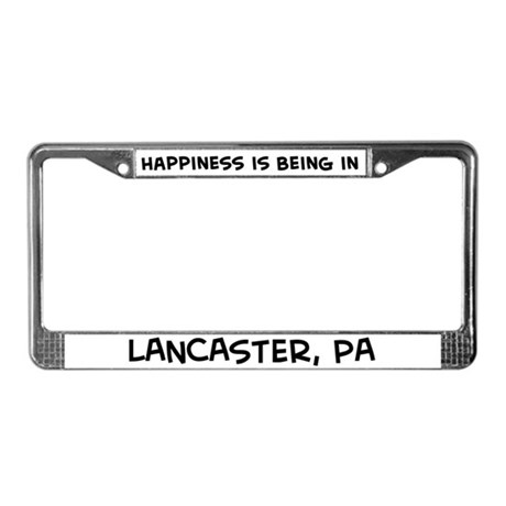 Happiness is Lancaster License Plate Frame
