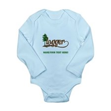 Retro Logger Long Sleeve Infant Bodysuit