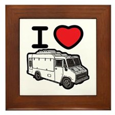 I Love Food Trucks! Framed Tile
