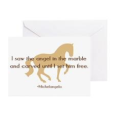 Michelangelo angel sayings - horse Greeting Cards