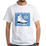 Bright Blue Ice Skate Shirt