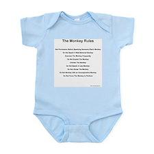 Monkey Rules Infant Creeper