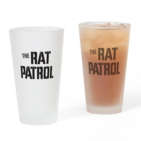 The Rat Patrol Drinking Glass