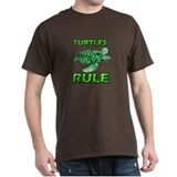 Turtles Rule Black T-Shirt
