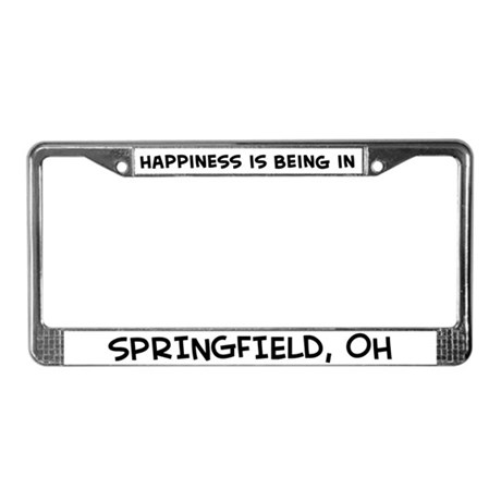 Happiness is Springfield License Plate Frame