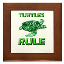 Turtles Rule Framed Tile