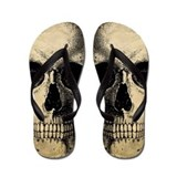 Antique Vintage Skull Flip Flops