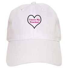 I love my trucker heart Baseball Cap