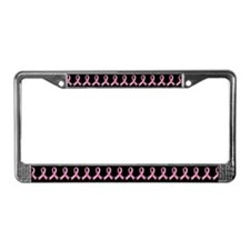 Pink Gem Ribbon License Plate Frame