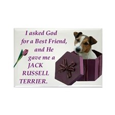 God Gave Me A Jack Russell 2 Rectangle Magnet