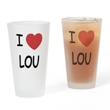 I heart lou Drinking Glass