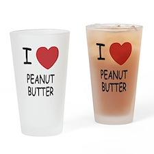 I heart peanut butter Drinking Glass