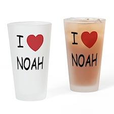 I heart noah Drinking Glass