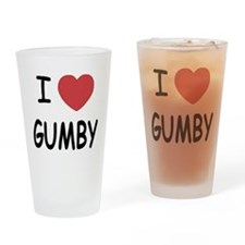 I heart gumby Drinking Glass