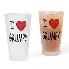 I heart grumpy Drinking Glass