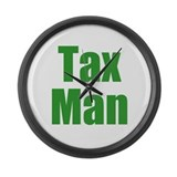 Tax Man Large Wall Clock