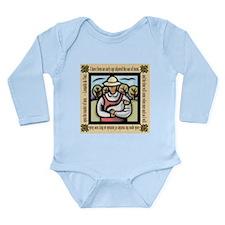 Vegetarian da Vinci Quote Long Sleeve Infant Bodys