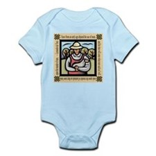 Vegetarian da Vinci Quote Infant Bodysuit