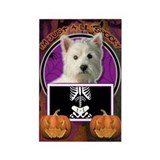 Just a Lil Spooky Westie Rectangle Magnet (100 pac