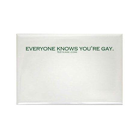 Everyone Knows You're Gay. Rectangle Magnet