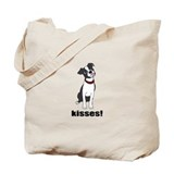 Boston Terrier Puppy Kisses Tote Bag