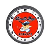 Minute Man Service Wall Clock