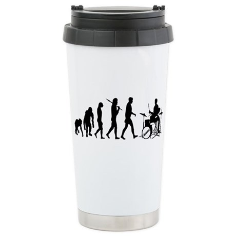Drummers Drum Set Ceramic Travel Mug