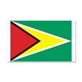 Flag of Guyana Car Magnet 20 x 12