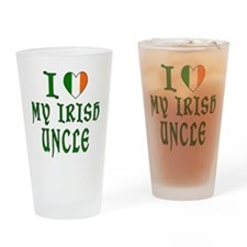 I Love My Irish Uncle Drinking Glass