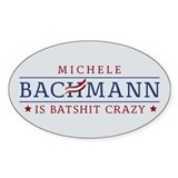 Batshit Crazy Bachmann Decal