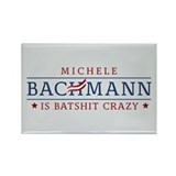Batshit Crazy Bachmann Rectangle Magnet