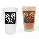 Ram Sign Drinking Glass