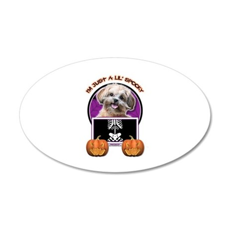 Just a Lil Spooky ShihPoo 38.5 x 24.5 Oval Wall Pe