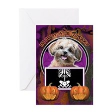 Just a Lil Spooky ShihPoo Greeting Card