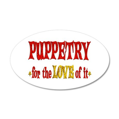 Puppetry Love 22x14 Oval Wall Peel