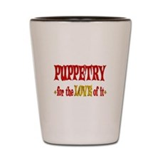 Puppetry Love Shot Glass