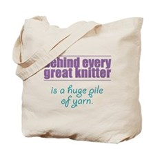 Behind Every Knitter... Tote Bag