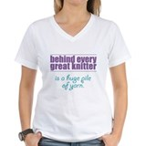 Behind Every Knitter... Shirt