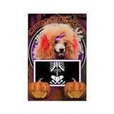 Just a Lil Spooky Poodle Rectangle Magnet