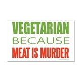 Vegetarian Car Magnet 20 x 12