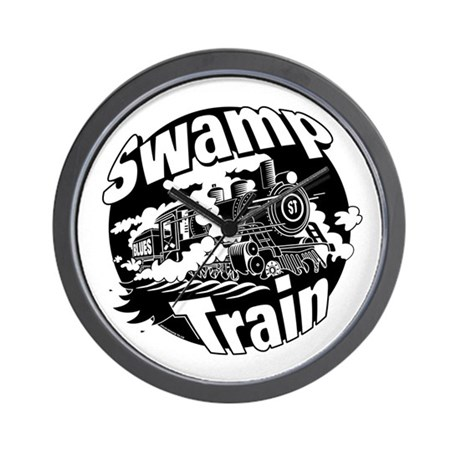 Swamp Train Wall Clock