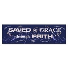 Saved by Grace Bumper Sticker